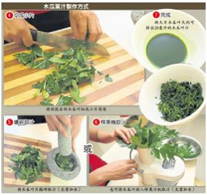 木瓜葉汁製作簡圖-2